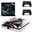 Venom decal for PS4 PlayStation 4 console and 2 controllers