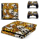 Artificial Skulls decal for PS4 PlayStation 4 console and 2 controllers