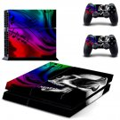 Devil Skull decal for PS4 PlayStation 4 console and 2 controllers