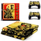 Sayings of mao decal for PS4 PlayStation 4 console and 2 controllers