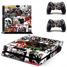 Music Bands Stickers  ps4 skin