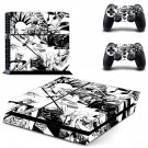 Punk Rock Jesus decal for PS4 PlayStation 4 console and 2 controllers