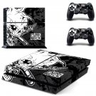 Punk Rock decal for PS4 PlayStation 4 console and 2 controllers