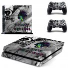 Punk Forever decal for PS4 PlayStation 4 console and 2 controllers