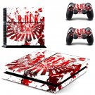 Rock music decal for PS4 PlayStation 4 console and 2 controllers