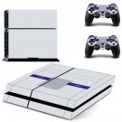 White Classic decal for PS4 PlayStation 4 console and 2 controllers