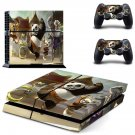 Kung Fu Panda 2 decal for PS4 PlayStation 4 console and 2 controllers