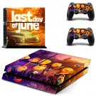 Last Day of June decal for PS4 PlayStation 4 console and 2 controllers