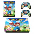 Mario Rabbids Kingdom Battle Xbox one X  skin decal for console and controllers