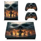 Skull & Bones skin decal for Xbox one X console and controllers