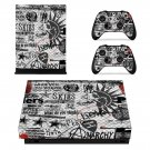 Green day sum 41 skin decal for Xbox one X console and controllers