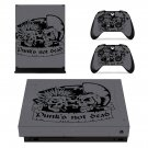 Punks Not Dead skin decal for Xbox one X console and controllers
