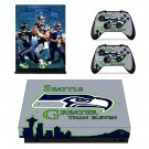 Seattle black hawk skin decal for Xbox one X console and controllers