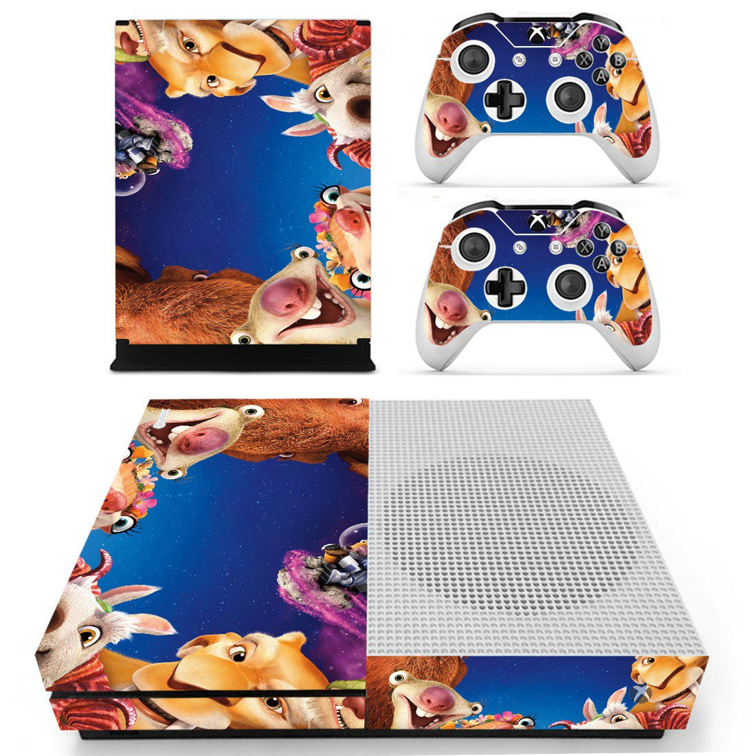 Ice Age skin decal for Xbox one s console and controllers