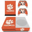 Clemson Tigers skin decal for Xbox one S console and controllers