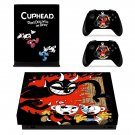 Cuphead skin decal for Xbox one X console and controllers