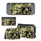 Old school rock and roll Nintendo switch console sticker skin