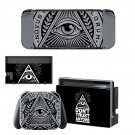 Novus Ordo Seclorum Nintendo switch console sticker skin