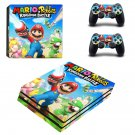 Mario  Rabbids Kingdom Battle ps4 pro skin decal for console and controllers