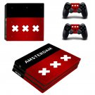 Amsterdam  Netherlands flag ps4 pro skin decal for console and controllers