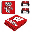 Wisconsin Badgers ps4 pro skin decal for console and controllers