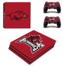 Arkansas Razorbacks ps4 pro skin decal for console and controllers