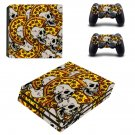 Artificial Skulls ps4 pro skin decal for console and controllers