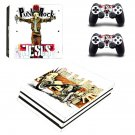 Punk Rock Jesus ps4 pro skin decal for console and controllers
