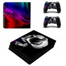Skulls Music ps4 pro skin decal for console and controllers