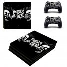 Punks not dead ps4 pro skin decal for console and controllers