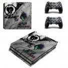 Punk forever ps4 pro skin decal for console and controllers