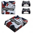 Punk rock ps4 pro skin decal for console and controllers