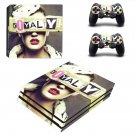 Royalty inspired fashion ps4 pro skin decal for console and controllers