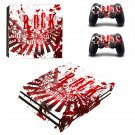 Rock music hd ps4 pro skin decal for console and controllers