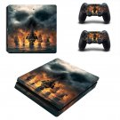 Skull & Bones ps4 slim skin decal for console and controllers