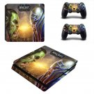 World of Warcraft Battle for Azeroth ps4 slim skin decal for console and controllers