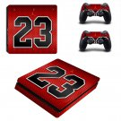 Airjordan 23 ps4 slim skin decal for console and controllers