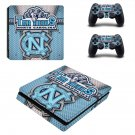 North Carolina Tar Heels ps4 slim skin decal for console and controllers