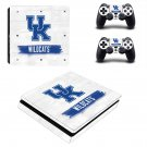 Kentucky Wildcats ps4 slim skin decal for console and controllers