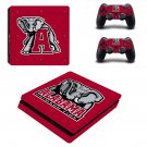 Alabama Crimson Tide football ps4 slim skin decal for console and controllers