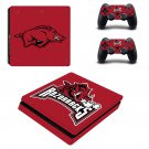 Arkansas Razorbacks ps4 slim skin decal for console and controllers