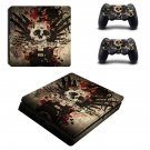 Rock and roll ps4 slim skin decal for console and controllers