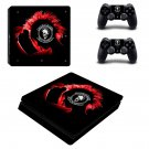 Punk rock for autism ps4 slim skin decal for console and controllers