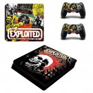 The Exploited Punk singles ps4 slim skin decal for console and controllers