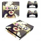 Royalty inspired fashion ps4 slim skin decal for console and controllers