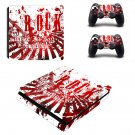 Rock music hd ps4 slim skin decal for console and controllers