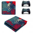 Punks not dead ps4 slim skin decal for console and controllers