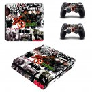 Music Bands Sticker ps4 slim skin decal for console and controllers