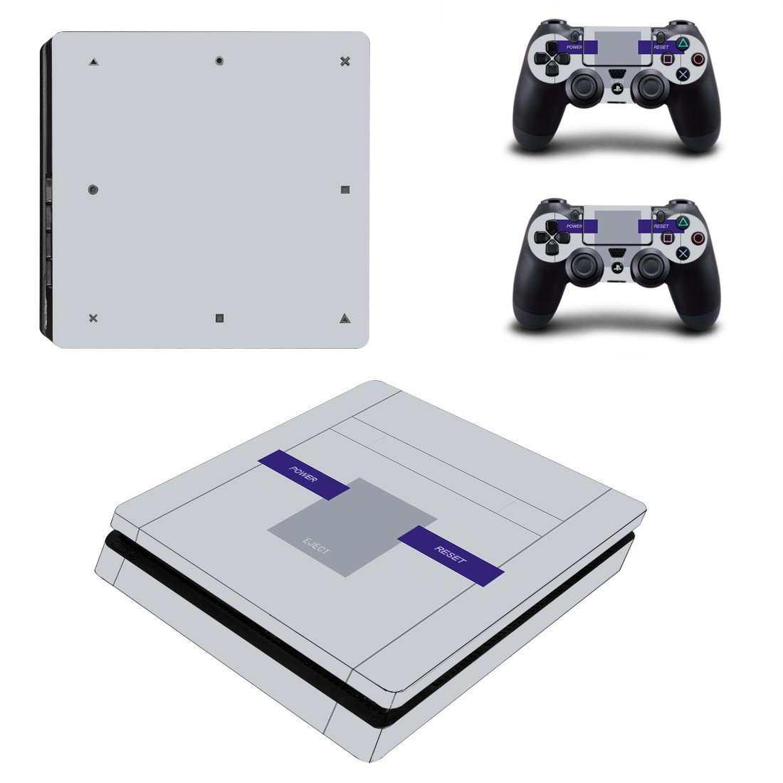 Power Ctrl ps4 slim skin decal for console and controllers