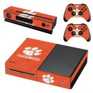 Clemson Tigers baseball skin decal for Xbox one console and controllers